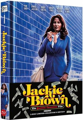 Jackie Brown (1997) (Wattiert, Cover A, Limited Collector's Edition, Mediabook, Blu-ray + DVD)