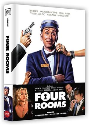 Four Rooms (1995) (Wattiert, Cover A, Limited Collector's Edition, Mediabook, Blu-ray + DVD)
