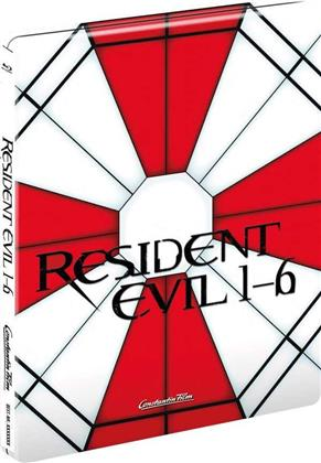 Resident Evil 1-6 (Limited Edition, Steelbook, 6 Blu-rays)