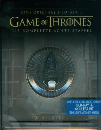 Game of Thrones - Staffel 8 (inkl. Magnet Siegel, Limited Edition, 3 4K Ultra HDs + 3 Blu-rays)