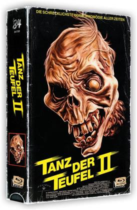 Tanz der Teufel 2 (1987) (VHS Box, + Poster, Cover B, Limited Edition, Uncut, 4K Ultra HD + 2 Blu-rays)