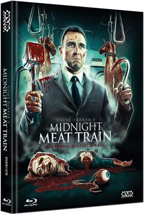 Midnight Meat Train (2008) (Cover E, Limited Collector's Edition, Mediabook, Uncut, Blu-ray + DVD)