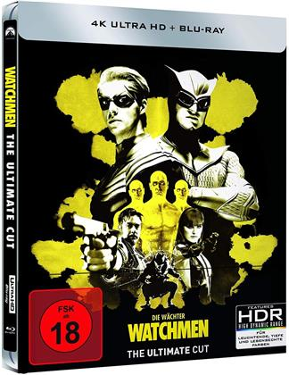 Watchmen (2009) (Ultimate Cut, Limited Edition, Steelbook, 4K Ultra HD + Blu-ray)