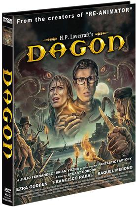 Dagon (2001) (Cover A, Limited Edition, Mediabook, Blu-ray + DVD)