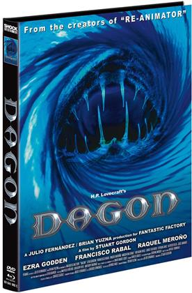 Dagon (2001) (Cover C, Limited Edition, Mediabook, Blu-ray + DVD)
