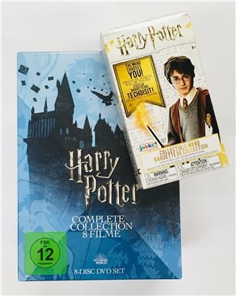 Harry Potter 1-7 - Complete Collection inkl. Sammler Zauberstab (Limited Edition, 8 DVDs)