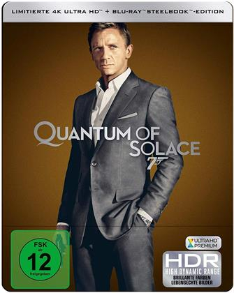 James Bond: Ein Quantum Trost (2008) (Limited Edition, Steelbook, 4K Ultra HD + Blu-ray)